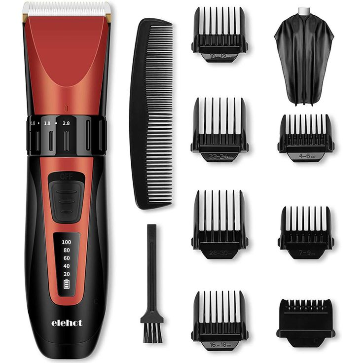 Hair Clipper Trimmer Cordless Rechargeable LCD Display Screen for Clear Battery Most Convenience Professional Use