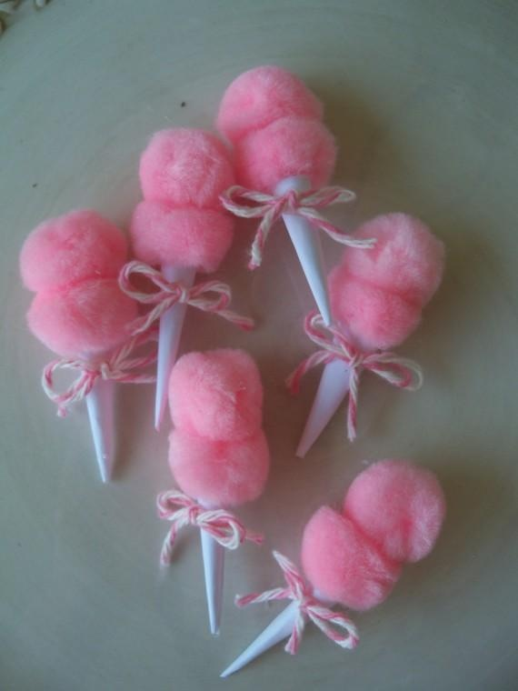 Tiny Cotton Candy Props   (for barrettes, pins, cupcakes, etc)