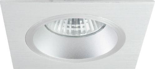 Lumina Square Recessed Downlight in Brushed Aluminium