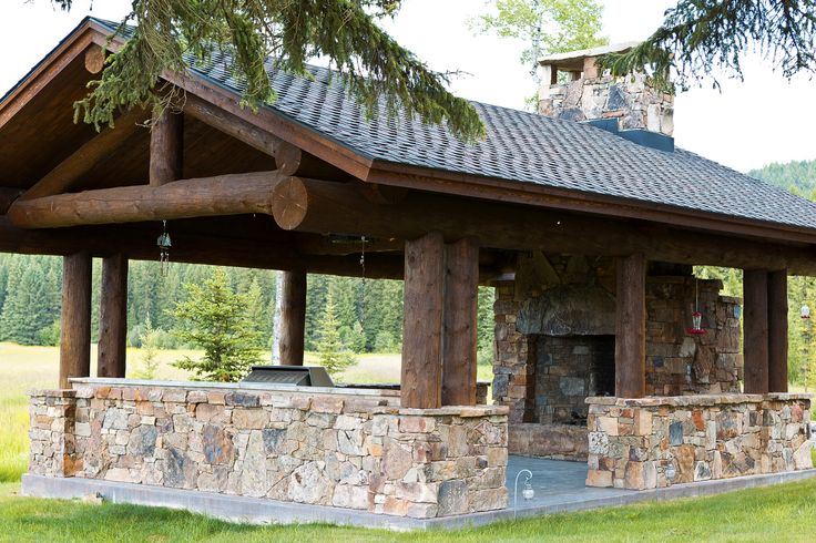 Entertainment Pavilion with the outdoor kitchen at either the mountain home or lake home: Cabin, Idea, Dinning Pavilion, Entertainment Pavilion Sr, Lake, Guest Houses, Outdoor Kitchen, Outdoor Pavilion