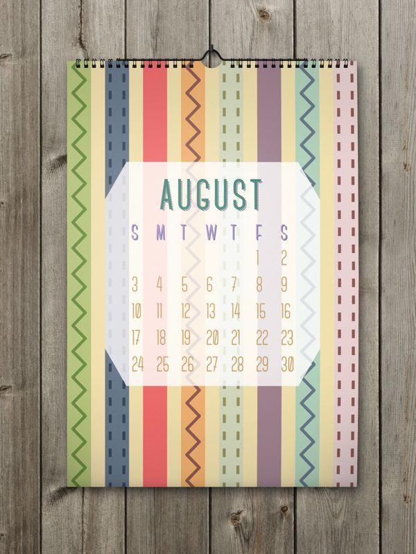 August Inspiring Calendar Design for the New Year: Shapes Calendar 2014
