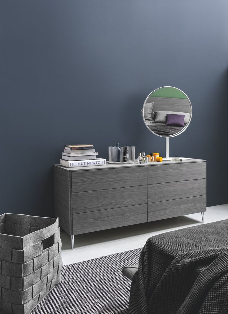 With six drawers for storage, BOSTON is a sleek and modern dresser. Featuring a push-pull and self-closing mechanism, the drawers remain clean and streamlined. With a choice between wooden or metal feet, Boston is a perfect complement to the Boston nightstand and any Calligaris bed. #calligaris #toronto #bedroom #dresser