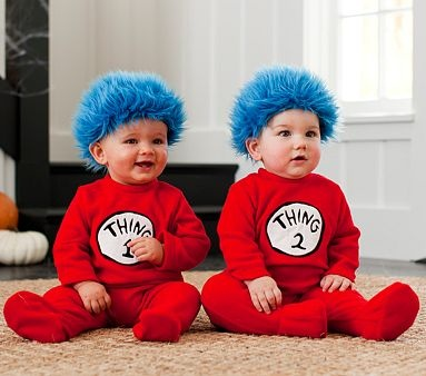I love the Baby Thing 1 & 2 Costumes on potterybarnkids.com. Mariah and Khloe and going to look so cute this holloween.