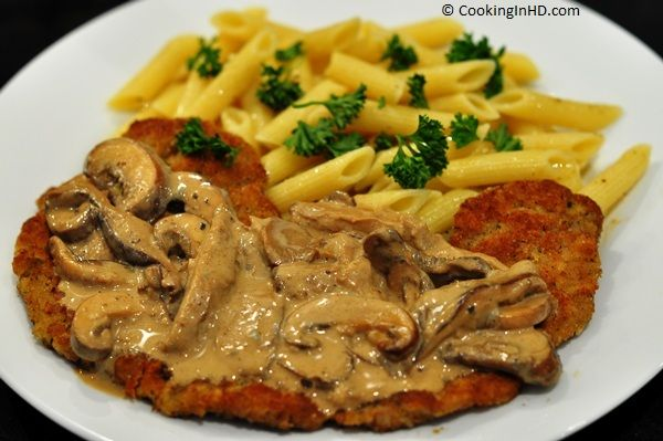 Veal Scallopini with Marsala, Gorgonzola, and Mushroom Cream Sauce