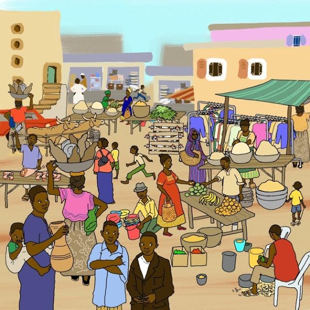 Praatplaat mark/Afrika