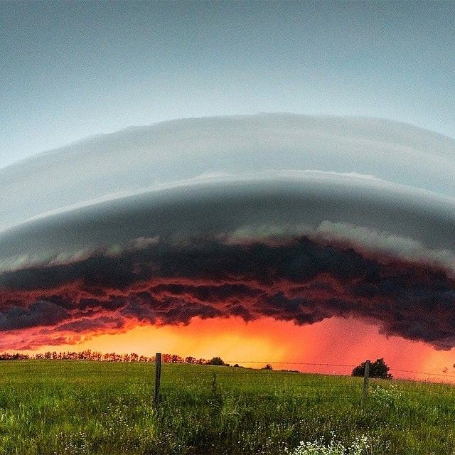 Shelf cloud from a multi cell system, East of Buck Lake, Alberta, Canada. Photo by © Ronnie Rabena