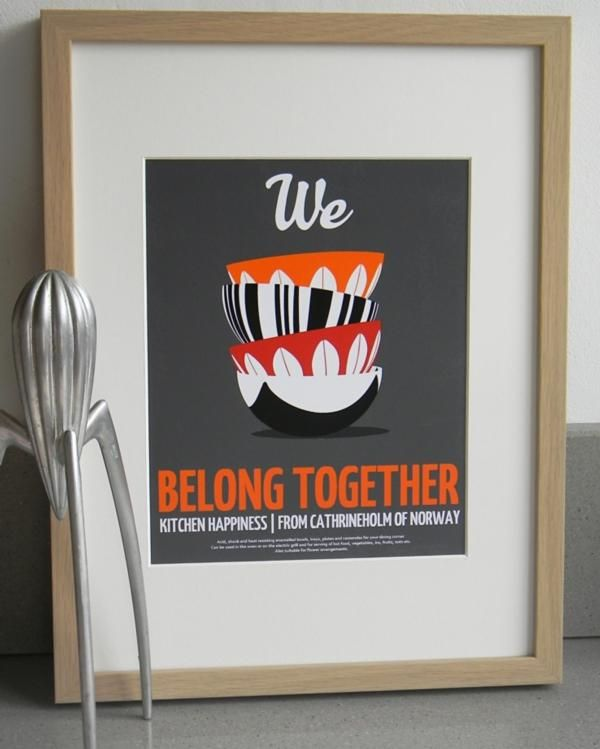 Quote Print We belong together Cathrineholm enamelware by ArtMii Design