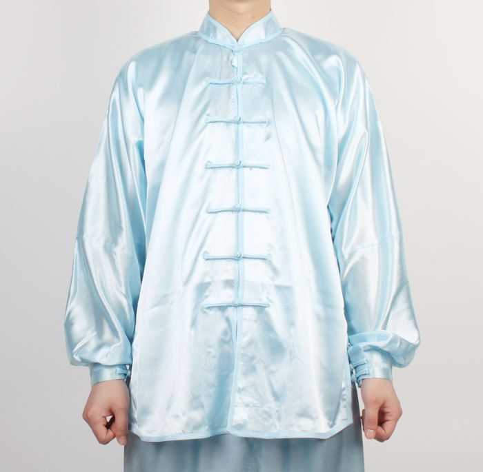 Wushu Uniform TaiChi KungFu uniforms Tai Chi Chuan Kung Fu Chinese Light Blue #Hyem