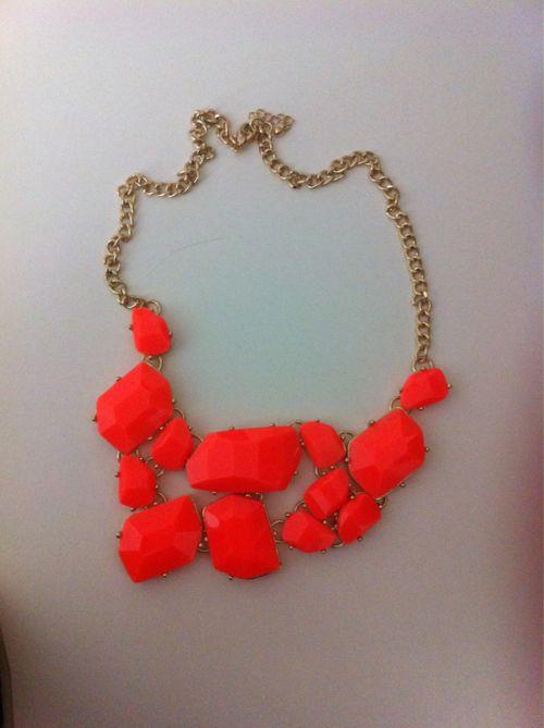 orange: Silver Necklaces, Pearls Necklaces, Statement Necklaces, Color, Fashion Necklaces, Ancillary, Diamonds Necklaces, Handmade Necklaces, Chunky Necklaces