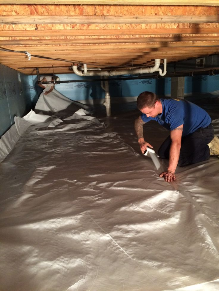 Easy to install crawl space vapor barrier viper cs keep Crawl space flooring