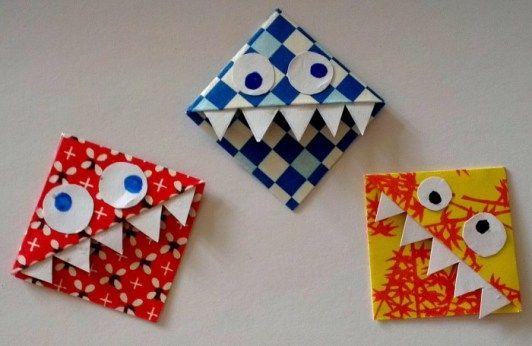 Anleitung für kleine Monsterlesezeichen