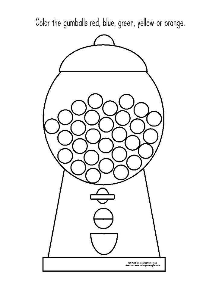 17 best ideas about bubble gum machine 2017 on pinterest for Gum coloring pages