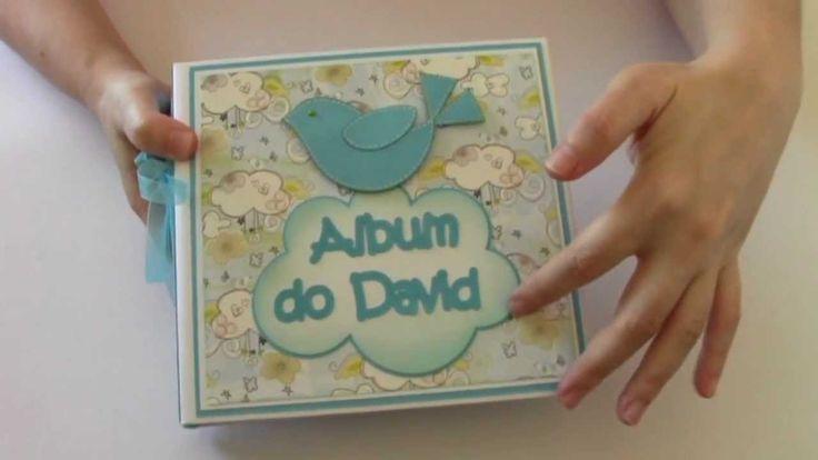 Mini Album para Bebé (Baby Boy Mini Album) - Album do David