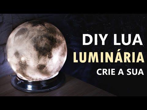 DIY luminária LUA (Moon Lamp) Decoração de quarto inspirada na lua., My Crafts and DIY Projects