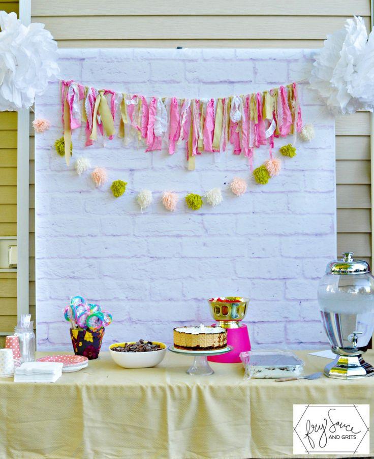 DIY PVC Backdrop for Birthday Party FrySauceandGrits.com