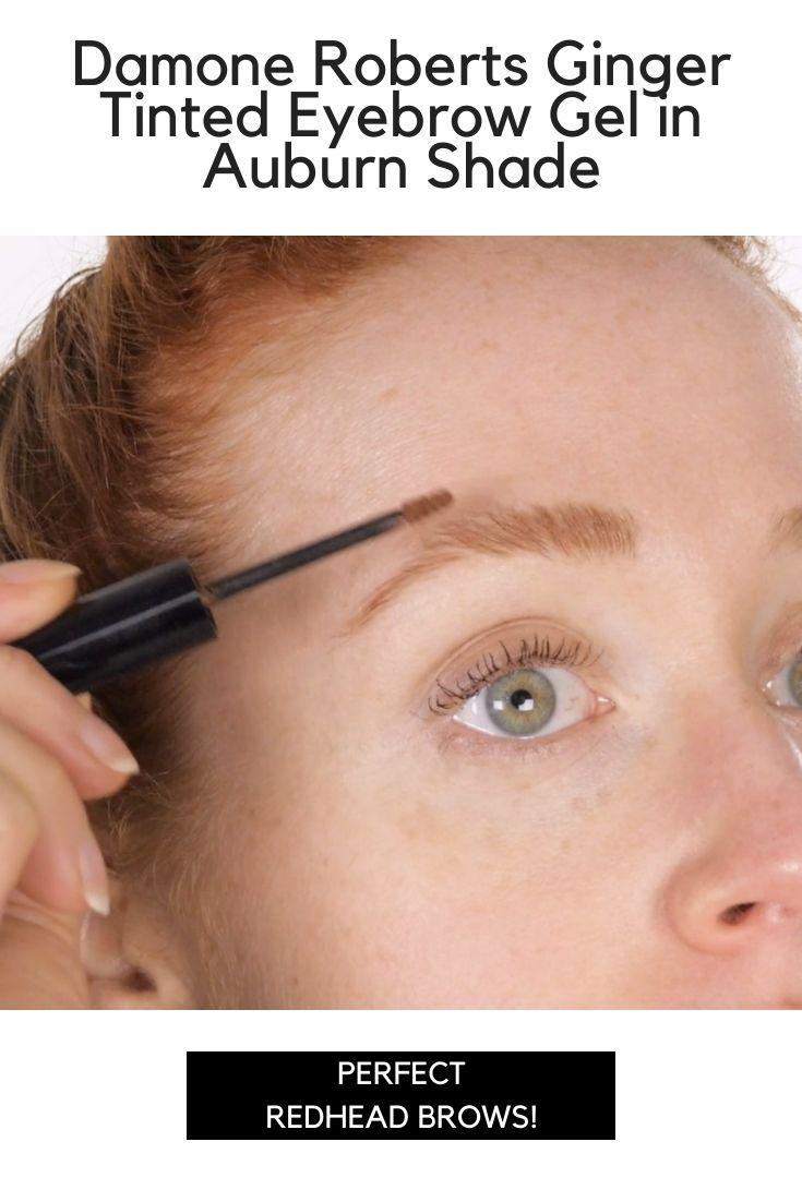 Damone Roberts Ginger Tinted Eyebrow Gel In Auburn Shade Eyebrow Gel For Redheads Tinted Eyebrow Gel Eyebrow Gel Tinted Brow Gel