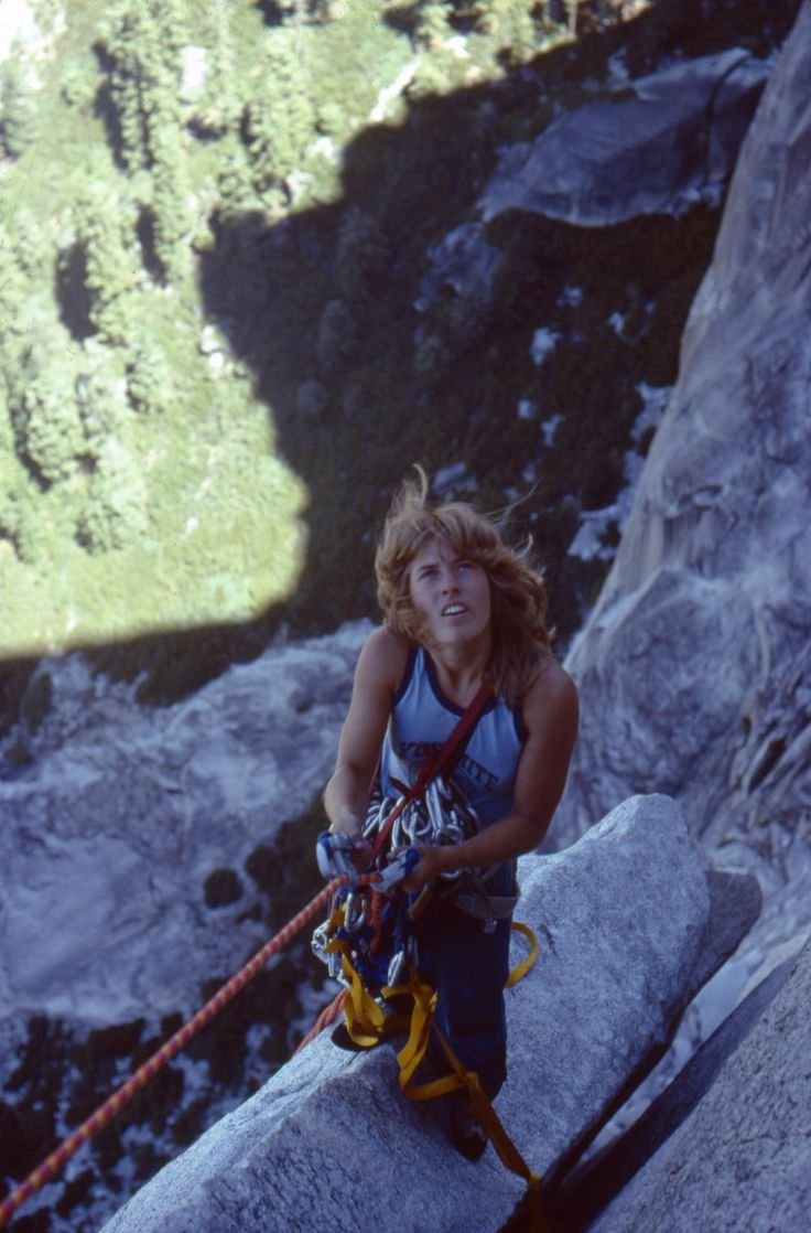 "Lynn Hill on Half Dome. Photo by Charlie Row, 1977, courtesy of Sender Films/""Valley Uprising"""