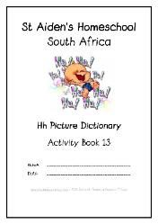 H - Alphabet Picture Dictionary Workbooks/Activity Books, Freebies, download one or download all #Homeschool #education