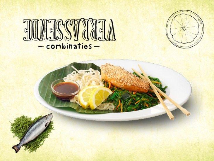 Oosterse salade met zalm en zeewier, het echte La Place recept! Wil jij thuis ook genieten van de La Place gerechten? Je vindt de recepten op onze site!