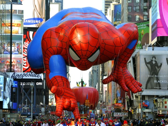 Spiderman at the Macy's Thanksgiving Day Parade