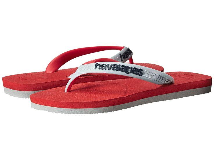 HAVAIANAS HAVAIANAS - CASUAL FLIP FLOPS (RED/GREY) MEN'S SANDALS. #havaianas #shoes #