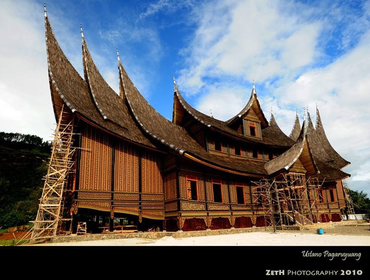 Traditional house Rumah Gadang, from West Sumatra, Indonesia