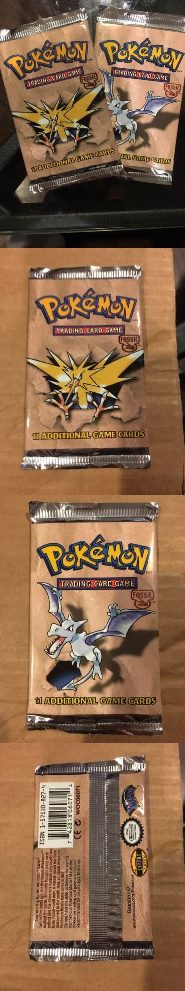 Pok mon Sealed Booster Packs 4301: (2) Pokemon Fossil Booster Pack, Unlimited 1999 - Factory Sealed! Box Fresh! -> BUY IT NOW ONLY: $32 on eBay!