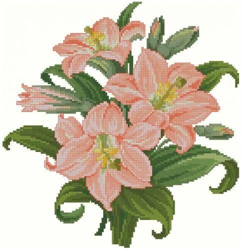 Схемы для вышивки: лилии