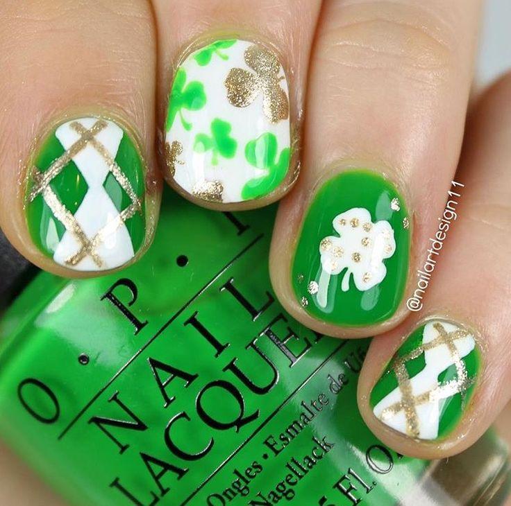 Mejores 78 imágenes de St. Patrick\'s Day Manicures en Pinterest ...
