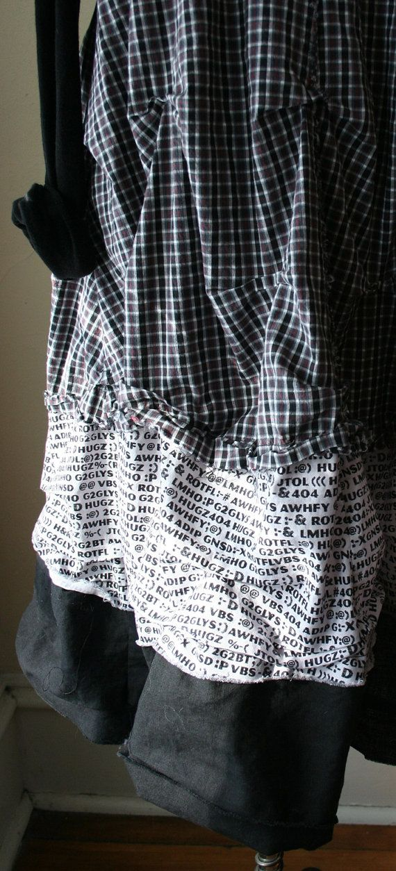 Plus Size Plaid Lagenlook Layering Tunic 3 by BreatheAgainClothing