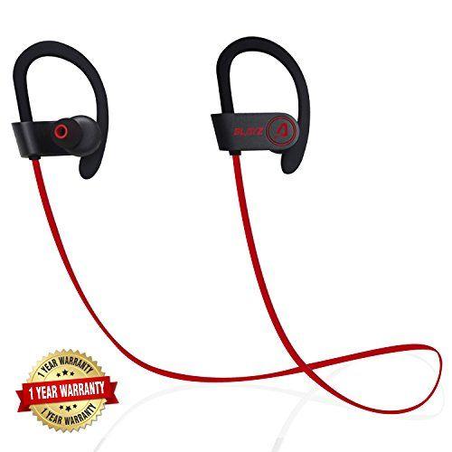 Blayz Bluetooth Sports Wireless Headphones With Microphone Noise Cancelling Sweatproof Earphones