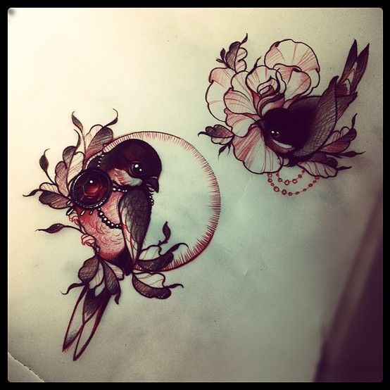 something like this would be pretty for a pair of a tattoos without matching