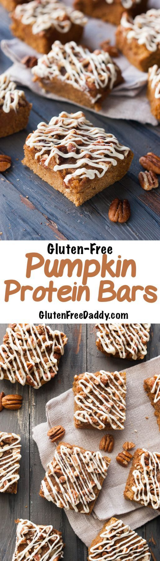 I love to make these pumpkin protein bars because you can't taste the protein powder, so myself and kids actually take our protein powder. These are the perfect lunch treat!