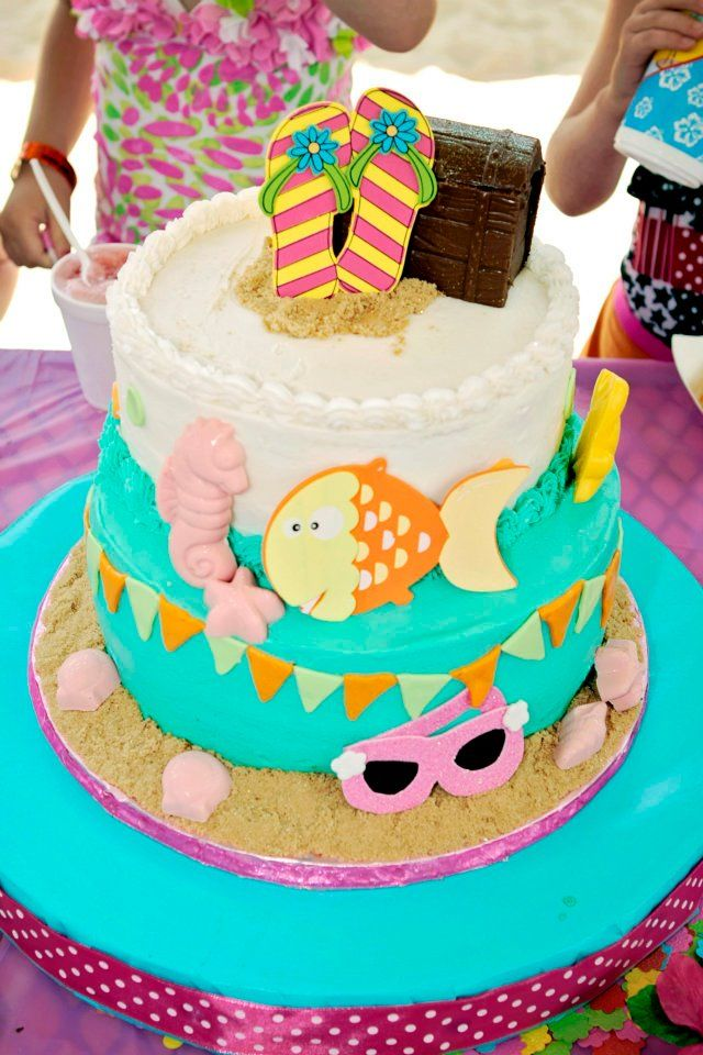 Birthday Cake Ideas Beach : 38 best images about elle,s birthday cake ideas on ...