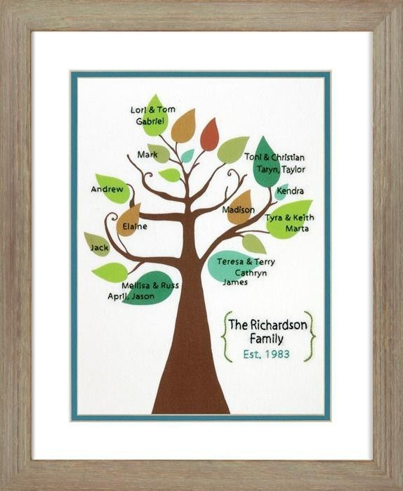Dimensions Crafts Stylized Family Tree Crewel Embroidery Kit # 70-73813