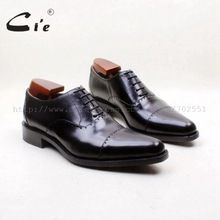 cie Free Shipping Bespoke Handmade Genuine Calf Leather Outsole Men's dress/classic /casual Oxford Color Black Captoe Shoe OX715 //Price: $US $221.00 & FREE Shipping //