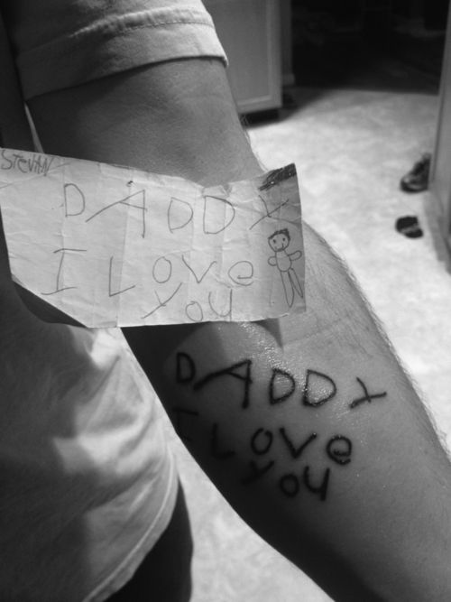 Adorable: Tattoo Ideas, Sons, Cute Ideas, Children, A Tattoo, Kids Writing, So Sweet, Father, Ink