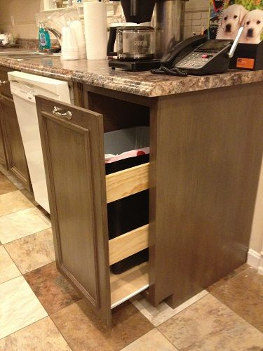 Kitchen Trash Pull Out Cabinet Do It Yourself Home Projects From Ana