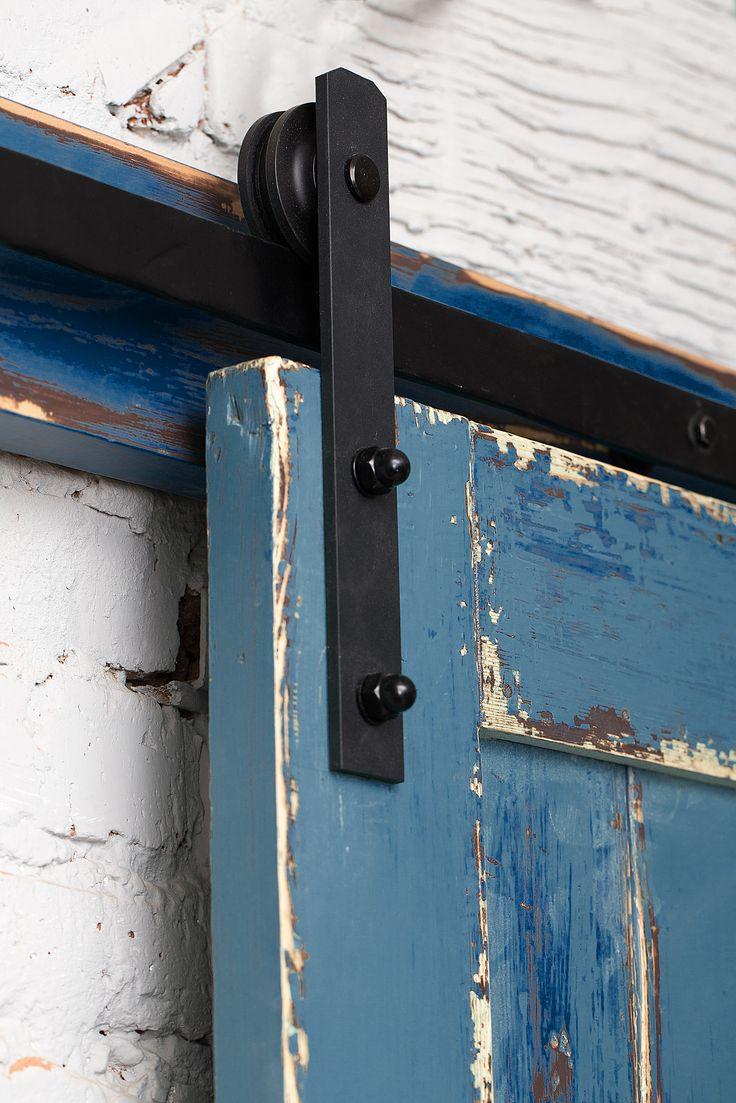 Двери лофт подвесной амбарный механизм ручной работы