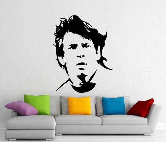 Home Sticker di Lionel Messi parete Vinyl Decal calcio affreschi degli interni arte decorazione (414n)