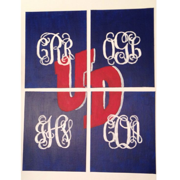 University of Dayton. Monogram. Dorm decoration DIY