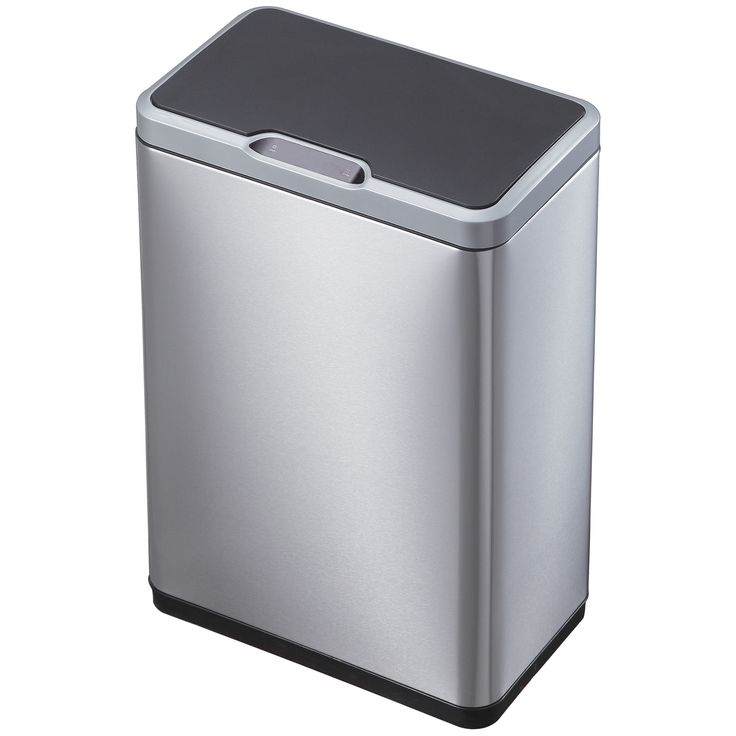 EKO 50L Mirage Sensor Trash Can. EKO 50 L Mirage Sensor Trash Can is the perfect 13-gallon kitchen trash can for a busy home. It's a smart trash can, which means it helps you keep your home clean and tidy. It has sensors built into the lid so that you can open the lid with the wave of your hand, or elbow when your hands are full. The lid opens automatically, so you can quickly empty plates and deposit trash--all without ever touching the trash can. The lid closes automatically...