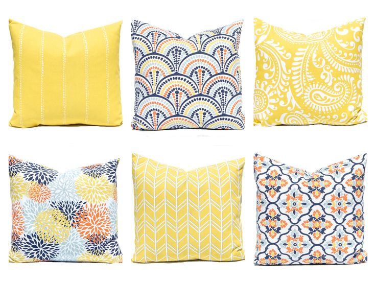 decorative pillow covers yellow pillow covers orange aqua and yellow floral pillow cover yellow cushion covers sofa pillow covers