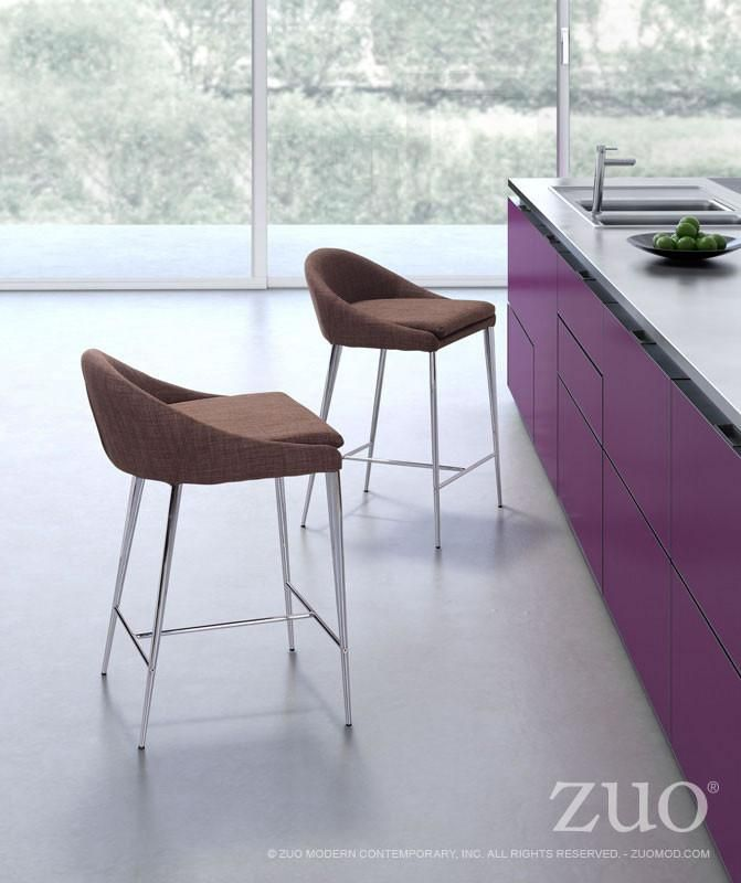 Zuo Reykjavik Counter Chair Set Of 2 Counter Chairs Modern Counter Stools Dining Room Furniture Modern