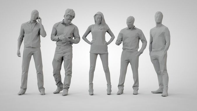 set of low poly people 15 | 3D Model