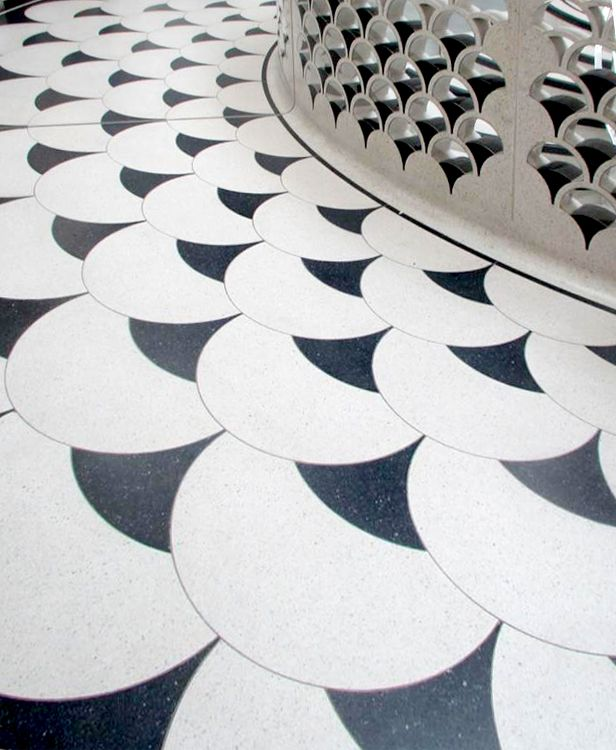 Flooring detail, Tate Britain Would be great as a stained patten on a concrete floor