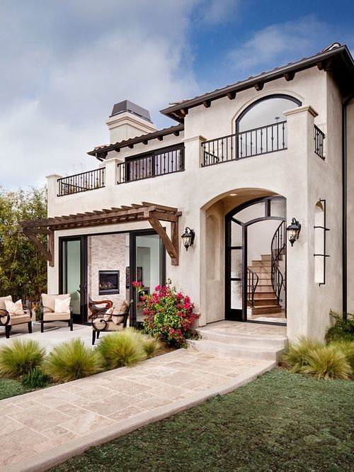 23 best modern mediterranean homes decoration design - Types of exterior finishes for homes ...