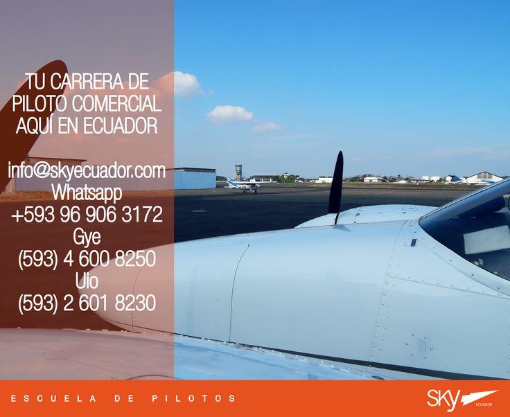 Finaliza el #vienes nos preparamos para un fin de semana de buenos vuelos!   Fórmate como Piloto Comercial en #Ecuador !  Siguiente curso:  #Quito - NOVIEMBRE  #Guayaquil - OCTUBRE   - Matrículas Abiertas.  Analiza nuestra experiencia, permisos, costos, nivel académico, flota, simuladores, facilidades, bases operativas, etc.  Para mayor información escríbenos a: info@skyecuador.com o mensajes WhatsApp 096 906 3172  Teléfonos:  02 601-8230 #Quito  04 600 8250 #Guayaquil