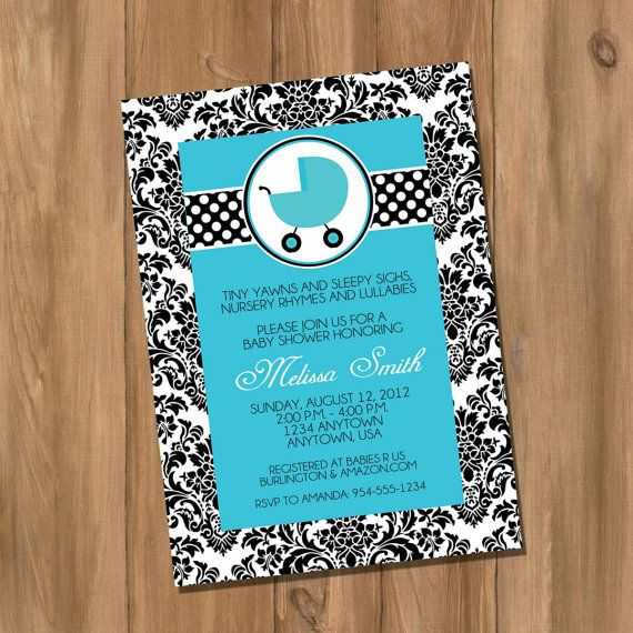 Damask Baby Shower Invitation Girl or Boy Pink or by DigiPrintz, $10.00