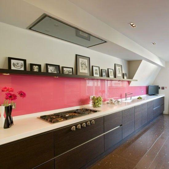 Bold splash of colour   Kitchen splashbacks   Kitchen design ideas   housetohome.co.uk